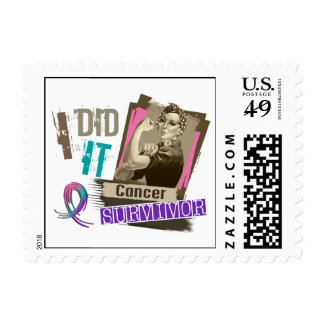 Rosie Sepia I Did It Thyroid Cancer Postage Stamps