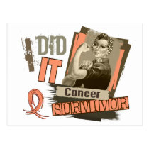 Rosie Sepia I Did It Uterine Cancer Postcard