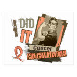 Rosie Sepia I Did It Uterine Cancer Postcards