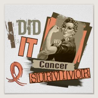 Rosie Sepia I Did It Uterine Cancer Poster