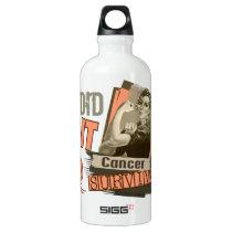 Rosie Sepia I Did It Uterine Cancer Water Bottle