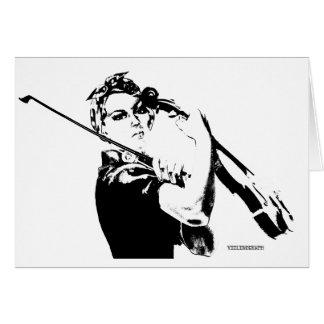 Rosie the Fiddler Greeting Card