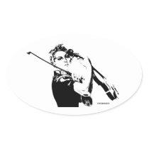 Rosie the Fiddler Oval Sticker