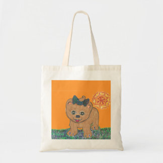 Rosie the Pomeranian Puppy Tote Bag