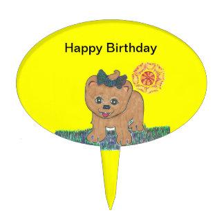 Rosie The Pomeranian Puppy Cake Topper
