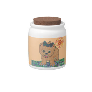 Rosie The Pomeranian Puppy Candy Dish