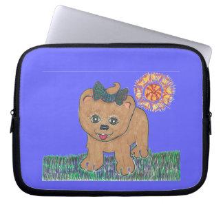 Rosie The Pomeranian Puppy Computer Sleeve