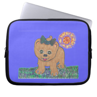 Rosie The Pomeranian Puppy Laptop Computer Sleeves