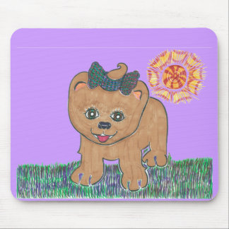 Rosie The Pomeranian Puppy Mouse Pad