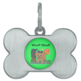 Rosie The Pomeranian Puppy Pet Name Tag