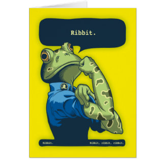Rosie the Ribbiter Card