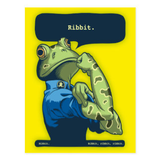 Rosie the Ribbiter Postcard