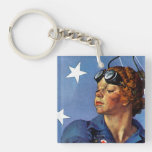 """Rosie the Riveter"" Acrylic Keychain"