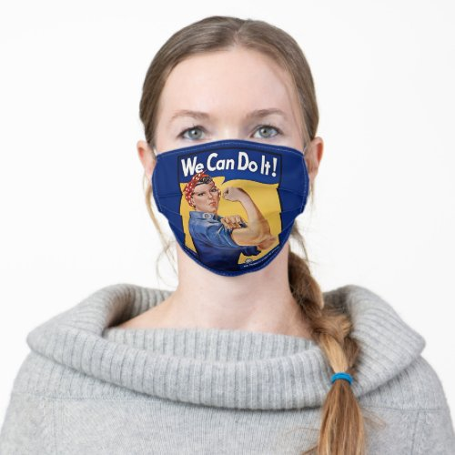 Rosie the Riveter American Feminism Girl Power Adult Cloth Face Mask