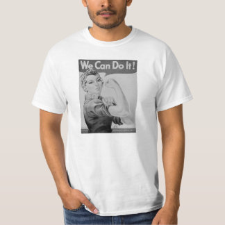 Rosie the Riveter B/W, Vintage WWII War Effort T T-Shirt