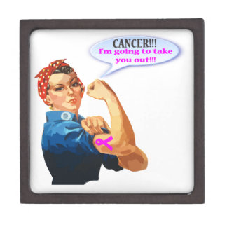 Rosie the Riveter Breast Cancer Charity T Shirt Jewelry Box