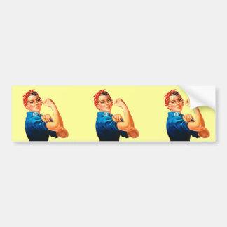 Rosie the Riveter Car Bumper Sticker