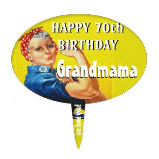 Rosie the Riveter Cake Topper for Grandma!