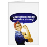 Rosie the Riveter-Capitalism greeting card