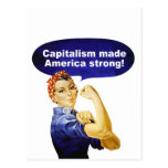 Rosie the Riveter-Capitalism postcard