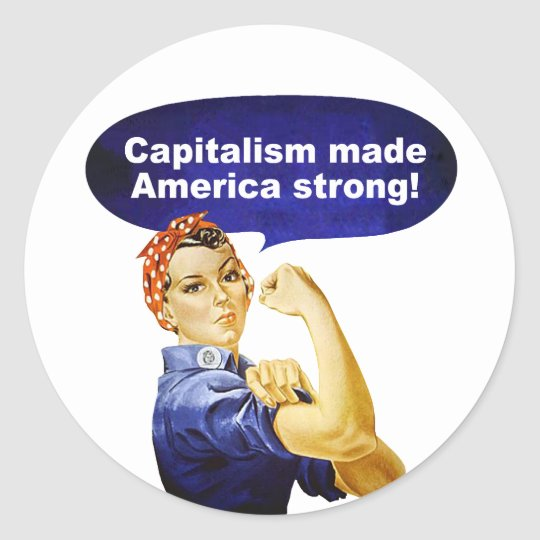 Rosie the Riveter-Capitalism stickers