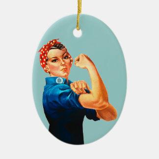 Rosie the Riveter Ceramic Ornament