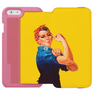 Rosie The Riveter Character Retro Style iPhone 6/6s Wallet Case