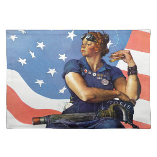 Rosie the Riveter Cloth Place Mat