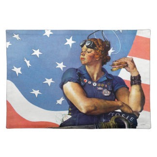 """""""Rosie the Riveter"""" Cloth Placemat"""