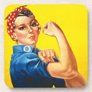Rosie the Riveter Cork Coaster