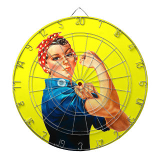 Rosie the Riveter Dartboard With Darts