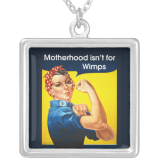 Rosie The Riveter ~ For Mom Square Pendant Necklace