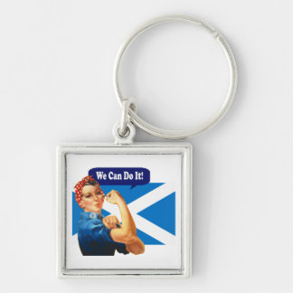 Rosie the Riveter for Scottish Independence Keychain