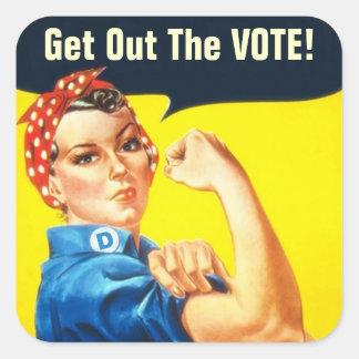 Rosie the Riveter GOTV sticker