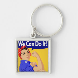 Rosie the Riveter graphic design Keychain