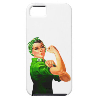 Rosie The Riveter - Green Military iPhone SE/5/5s Case