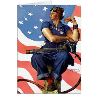 """Rosie the Riveter"" Greeting Card"