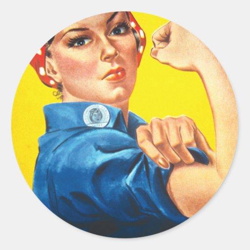 Rosie The Riveter: Gun Show! Classic Round Sticker