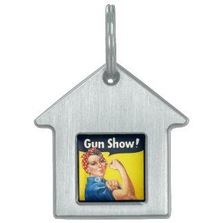 Rosie The Riveter: Gun Show! Pet Tags