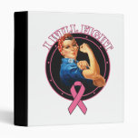 Rosie The Riveter I Will Fight Breast Cancer Vinyl Binders