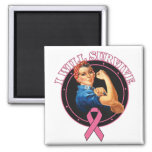 Rosie The Riveter I Will Survive Breast Cancer Fridge Magnet