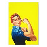 """Rosie the Riveter Invitation 3.5"""" X 5"""" Invitation Card"""