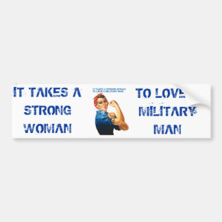 "ROSIE THE RIVETER - ""It takes a strong woman"" Bumper Sticker"