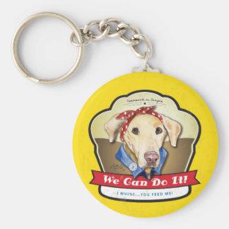 Rosie the Riveter Labrador Keychain
