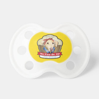 Rosie the Riveter Labrador Pacifier