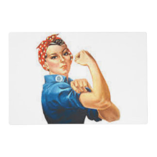 Rosie the Riveter Laminated Place Mat