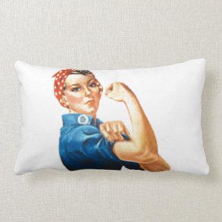 Rosie the Riveter Lumbar Pillow