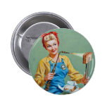 Rosie the Riveter Makes Toasted Cheese 2 Inch Round Button