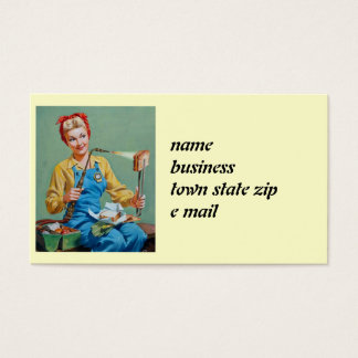 Rosie the Riveter Makes Toasted Cheese Business Card
