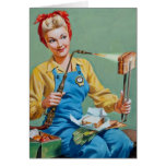 Rosie the Riveter Makes Toasted Cheese Greeting Card